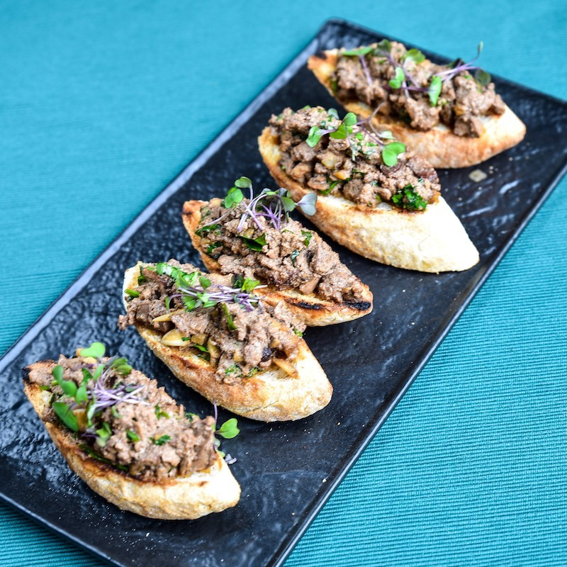Chicken liver bruschetta...