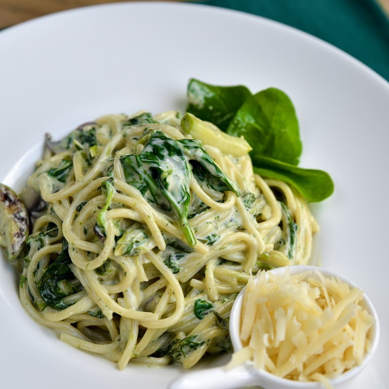 Pasta with spinach and...