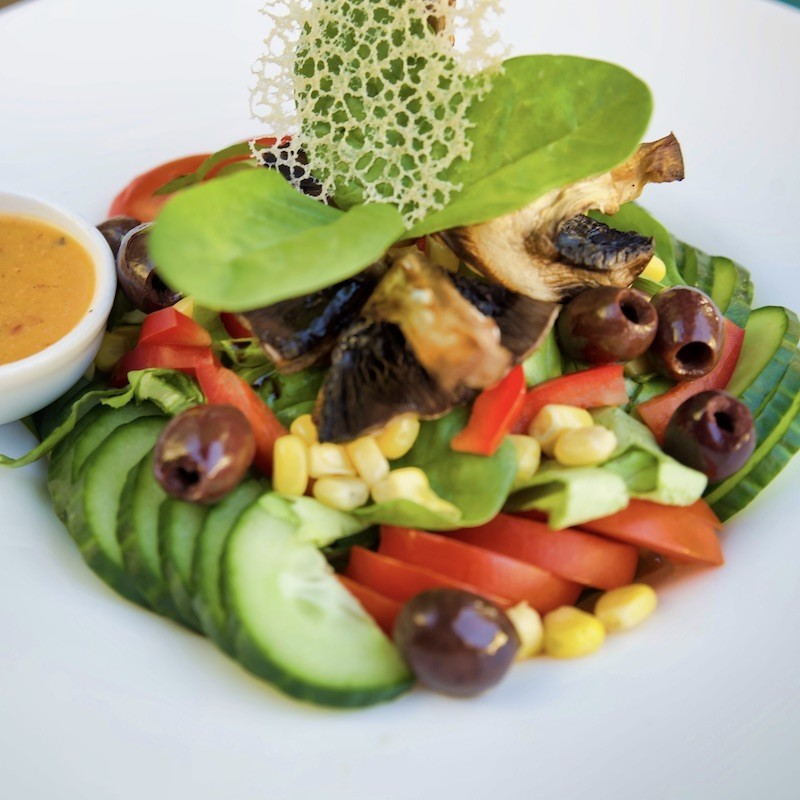 Vegan salad with roasted...