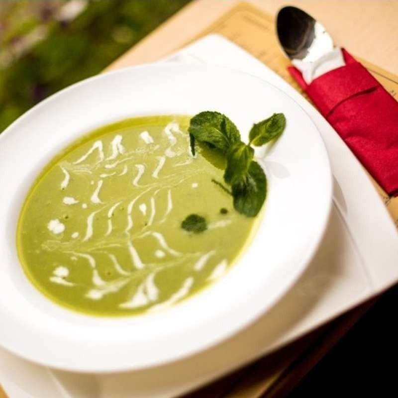 Creamy green soup (420 g)