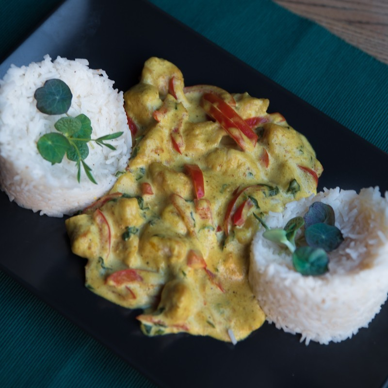 Coconut chicken and rice...